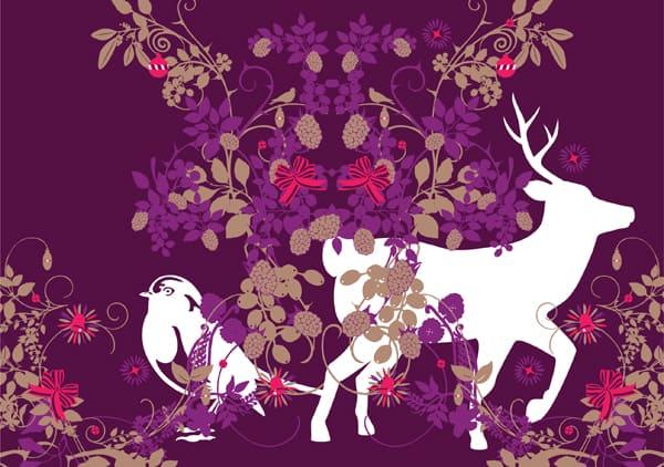 Seasonal Xmas Card Design illustrations Jitesh Patel